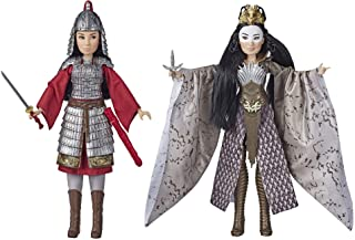 Disney Mulan and Xianniang Dolls with Helmet, Armor, and Sword, Inspired by Disney's Mulan Movie, Toy For Kids and Collectors