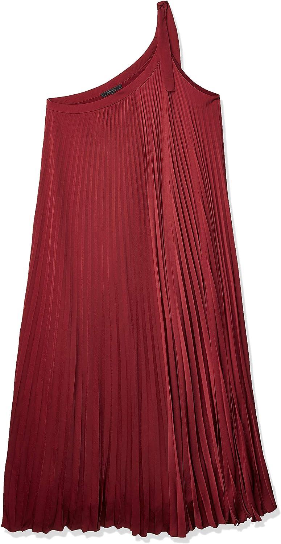 BCBGMAXAZRIA Max 63% OFF Women's Bow Pleated Miami Mall Dress Shoulder