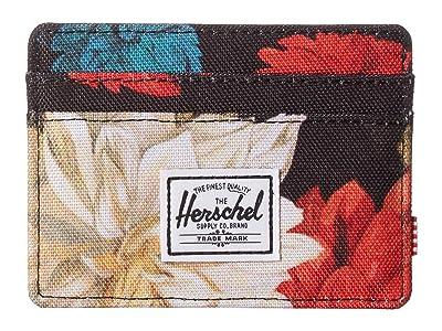 Herschel Supply Co. Charlie RFID (Vintage Floral Black) Wallet Handbags