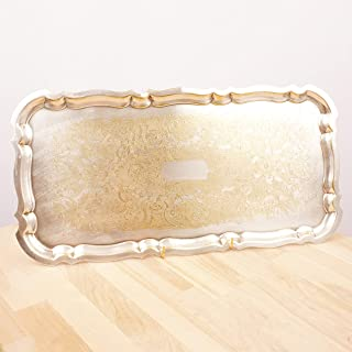 Restored by UkaVintage Yeoman Plate Tray/Plate || Silver Plated on Brass Made in England || Vintage Rectangle Tray || Floral Design