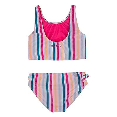 Hurley Kids UPF 50+ Crop Top Tankini Swimsuit Set (Big Kids)