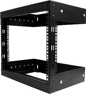 """StarTech.com 8U 19"""" Wall Mount Network Rack - Adjustable Depth 12-20"""" 2 Post Open Frame Server Room Rack for AV/Data/ IT C..."""