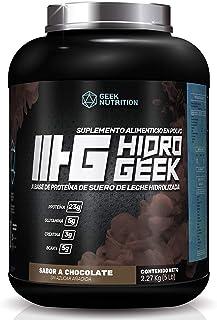 Geek Nutrition Proteína HIDRO GEEK | 100% Whey Protein | 5 lb (2,27 kg) | 65 Servicios por Envase | Delicioso Sabor a Choc...