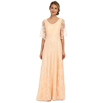 Donna Morgan Lace with Sleeve (Apricot) Women