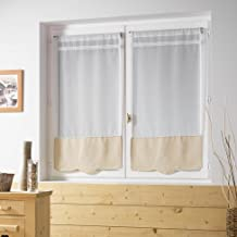 Amazonfr Blanc Voilages Décoration De Fenêtres