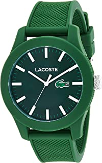 LACOSTE MEN'S GREEN DIAL GREEN SILICONE WATCH - 2010763