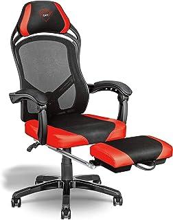 Trust Gaming GXT 706 Rona 游戏椅 带脚踏板 - 黑色/红色
