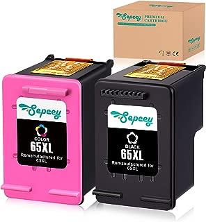 Sepeey Remanufactured Ink Cartridge for HP 65XL 65 65 XL (N9K04AN), 1 Black+1 Tri-Color, Use with Envy 5055, 5058, 5052, Deskjet 2655, 2622, Deskjet 3755, 3758, 3752, 3732, 3730, 3722, 3721, 3720