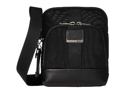Tumi Alpha Bravo Barksdale Crossbody (Black) Cross Body Handbags
