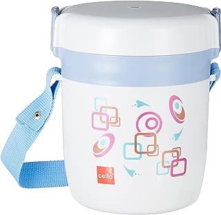 Cello Executive Insulated 3 Container Lunch Carrier, Grey (LP_EXEC3_Blue Grey_3 CTN)