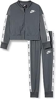 Nike G NSW TRK Suit Tricot Chándal, Niñas, Iron Grey/White/Iron ...