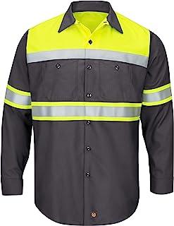 قميص عمل Red Kap Hi-Vis LS Colorblock Ripstop - النوع O، الفئة 1