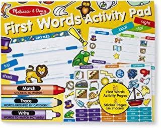 Melissa & Doug First Words Activity Pad - 288 Stickers to Match