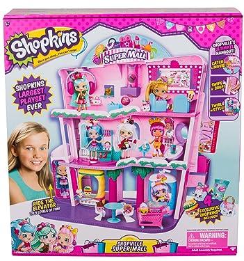 Shopkins Shoppies Shopville Super Mall, Multi Color, 11.81 x 24.01 x 26.71 (56631)