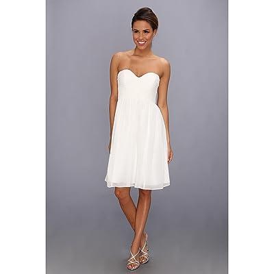 Donna Morgan Morgan Sweetheart Dress (White Lily) Women