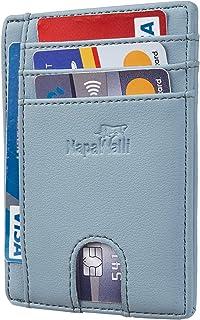 Toughergun RFID Blocking Minimalist Genuine Leather Slim Front Pocket Wallet U