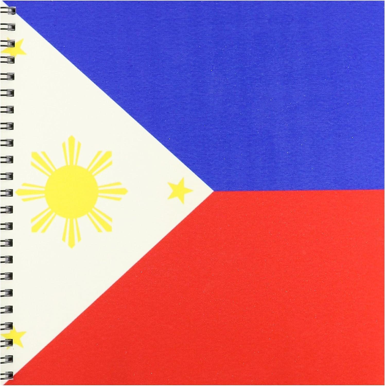 3dRose Inspirationzstore Banderas – Bandera de la República de Filipinas Filipino Azul, Rojo y Blanco con Golden Amarillo Sol y Estrellas pambansang watawat – Libro de Dibujo, 8x8 Drawing Book: Amazon.es: Juguetes