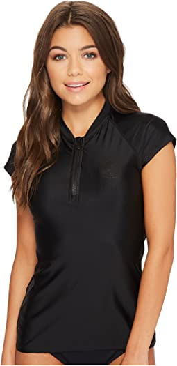 Rip Curl Belle Cap Sleeve 1/2 Zip UV Tee