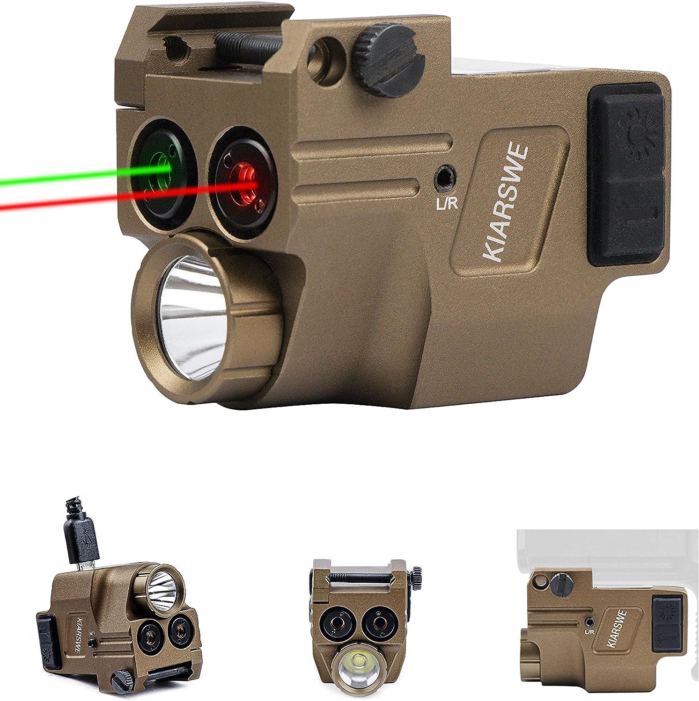 KIARSWE 500 Lumens Flashlight USB Rechargeable Green Laser Light Combo