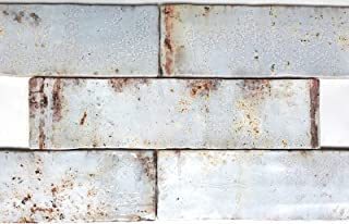 3x12 Palermo Collection Aires Glazed Ceramic Tile Backsplash Decor Wall Bath (1sf, 4pcs)
