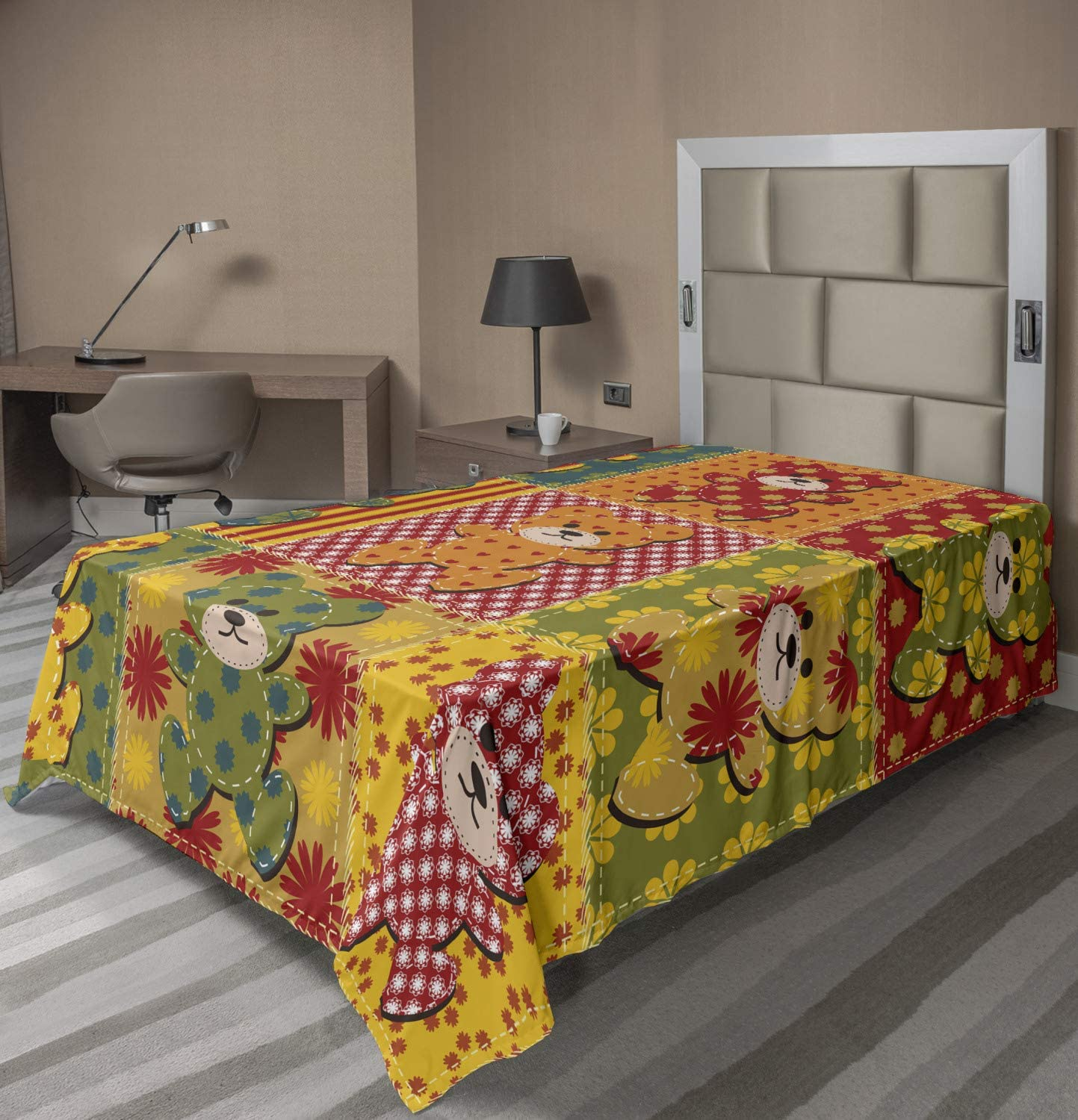 Max 46% OFF Lunarable Max 55% OFF Cabin Flat Sheet Colorful Styl Pattern Patchwork with
