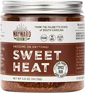 Sweet Heat Rub & BBQ Seasoning by Wayward Gourmet - Best BBQ Grill Seasoning Rub - Made for Chicken, BBQ Meat, Pork, Ribs, Hamburger, Steaks - Dry Rub Spice Blend for Grilling & Smoking Meats