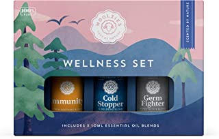 Woolzies 100% Pure Wellness Essential Oil Blend Set | Good Health Germ Fighter Cold Stopper | Natural Cold Pressed Highest...