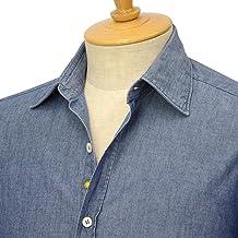 [Giannetto【ジャンネット】]シャンブレーシャツ VINCIFIT 92031354370V65 003 コットン インディゴ