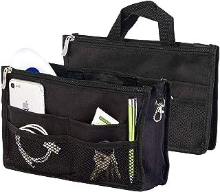 Xcase Taschenorganizer: Handtaschen-Organizer, RFID-Schutz, 13 Fächer, 26 x 16 x 8 cm, schwarz Handtaschen Organizer klein