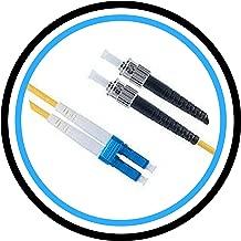 FiberShack - Duplex Fiber Optic Patch Cables - Single Mode - LC, ST, SC. 1M & 3M. Commercial Quality. (1M, LC to ST)