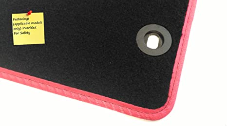 Connected Essentials CEM650 Car Mat Set for Peut Partner Grey with Red Trim Premium 2008-
