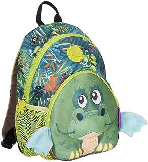wildpack Junior 86002 Mochila para niños con cinturón de Pecho DRAGÓN, Verde