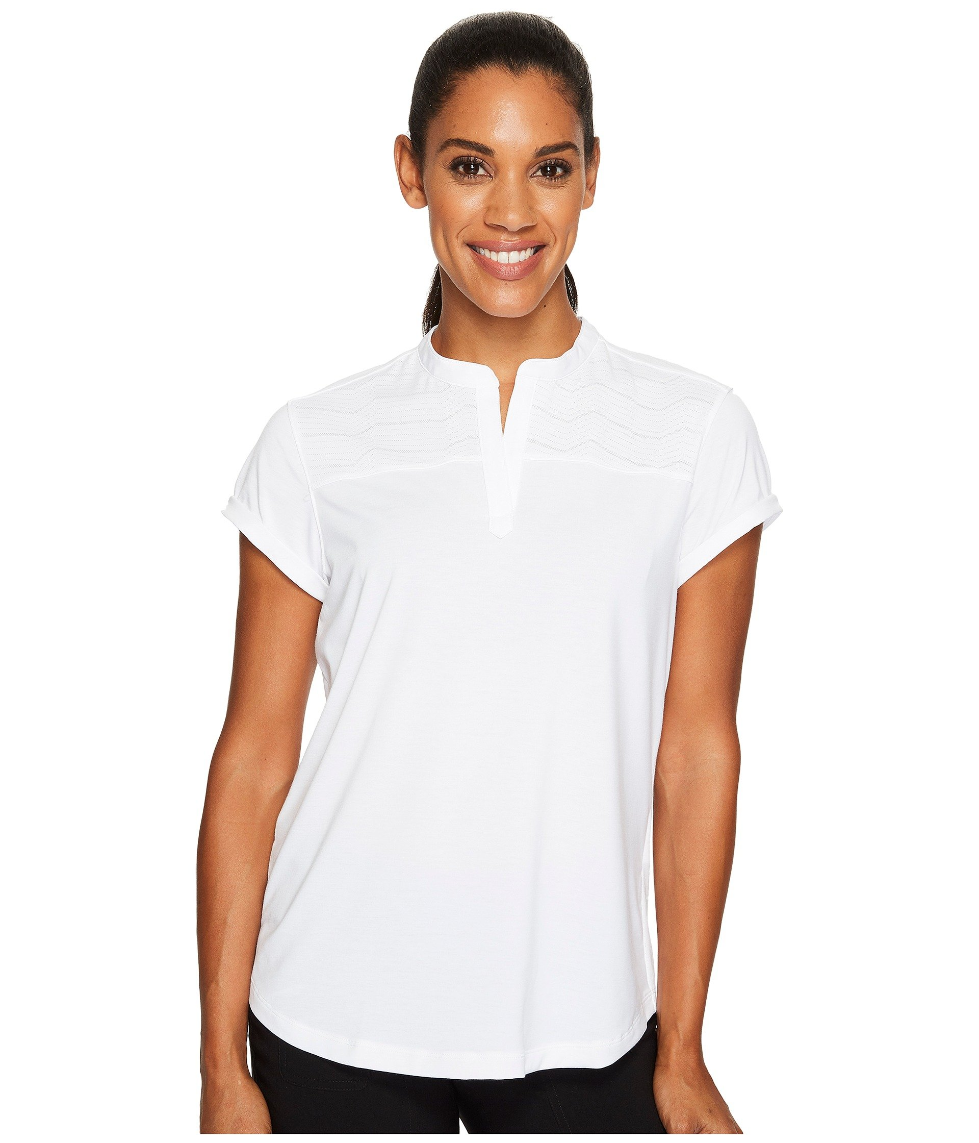 Camiseta Tipo Polo para Mujer Under Armour Golf Mandarin Jacquard Polo Shirt  + Under Armour en VeoyCompro.net
