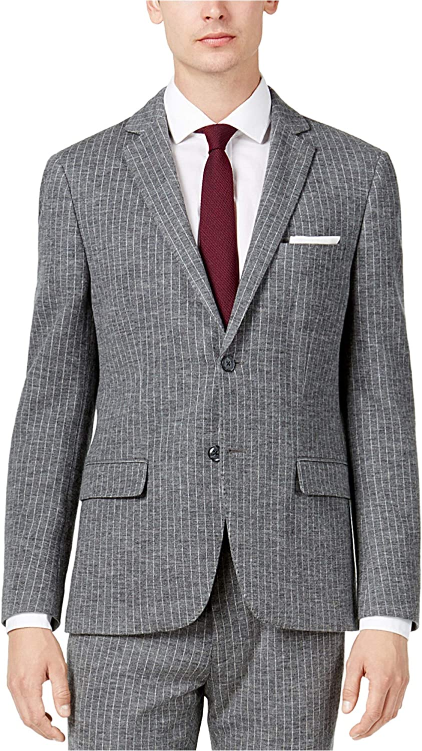 bar III Mens Notched Lapel Two Button Blazer Jacket