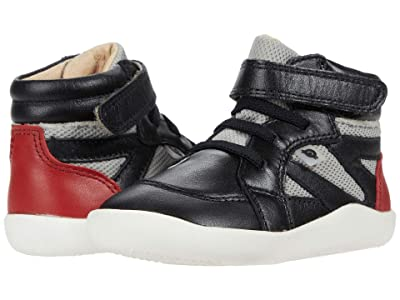 Old Soles High Ground (Toddler) (Black/Light Grey Mesh/Red) Boy