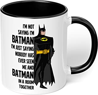 "1 Mug -""I am Batman!"" Funny Quote - Perfect for your cuppa Coffee, Tea, Karak, Milk, Cocoa or whatever Hot or Cold Beverag..."