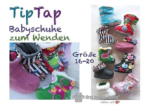 TipTap Nähanleitung mit Schnittmuster für Baby-Hausschuhe zum Wenden [Download]