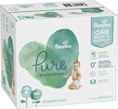 Hypoallergenic and... 186 Count Pampers Pure Disposable Baby Diapers Size 2