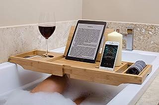 Wei/ß Seifenschale /Frei /One Oder Zwei Person Bad Schacht mit der Erweiterung Seiten/ Royal Craft Tablett Holz Bambus Badewanne Caddy mit Wein und Buch Halter/