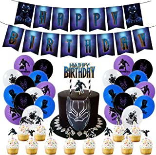 Black Panther Birthday Party Supplies for Home Decoration kids Birthday Party Decor 52 Pack