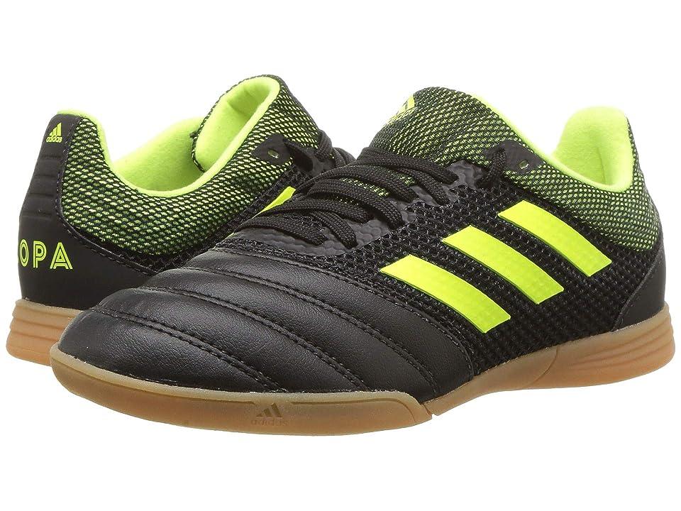 adidas Kids Copa 19.3 IN Sala Soccer (Little Kid/Big Kid) (Black/Solar Yellow) Kids Shoes