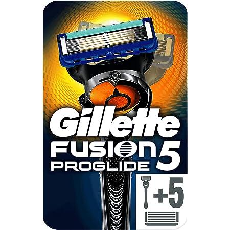 Gillette Fusion 5 ProGlide Rasoio Uomo + 5 Lamette di Ricarica con Tecnologia FlexBal