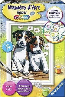 BOSHUN sans Cadre 20 Pouces Peinture par Numero Kits avec Brosses et peintures acryliques pour Adultes Enfants Seniors D/ébutant Les Loups 16