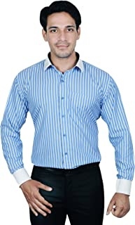 MODS The Cotton White Blue Stripe Shirt