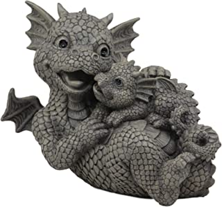 Ebros Garden Dragon Family Mommy and Me Time Statue 8