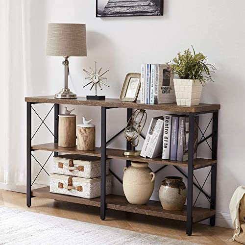 OIAHOMY Industrial Sofa Table,Console Table,3-Tier Industrial Rustic Hallway/Entryway Table,Easy Assembly,for Entrywa...