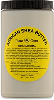 Raw African Shea Butter 32 oz Jar Bulk Unrefined Grade A 100% Pure Natural Ivory/White From Ghana DIY Crafts, Body, Lotion, Cream, lip Balm, Soap Making, Eczema, Psoriasis And Aid Stretch Marks