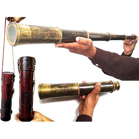 "Vintage Telescope Brass Spyglass Scope Collectible Marine Scope Small Gift 6/"""
