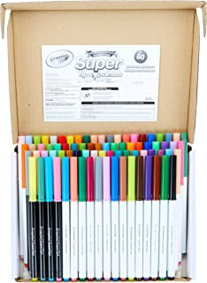 Crayola Super Tips Marker Set, 43 Unique Colors, Doubles of Favorite 25 Colors & 12 Scented Shades, 80 Count, Gift