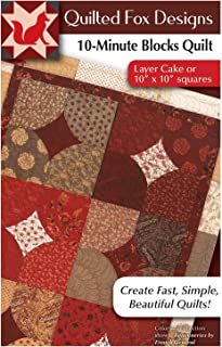 10-Minute Blocks Quilt Pattern: Layer Cake or 10